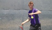 Ready to go: Connor Treacy preparing for SCIAC tourney.  Photo by Tora Thuland - Staff Photographer