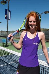 Senior Sarah Seeman has played Regals tennis for four seasons. She said she looks up to professional tennis player Rafael Nadal, the No. 2 men's singles player in the world  Photo by Katie May - Photojournalist)