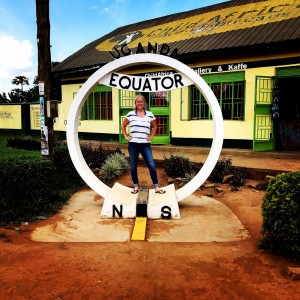 """Comfortable with the uncomfortable: Senior Anna Lundsten is seen here in Uganda while studying abroad in summer 2018. """"She has helped so many people all over the world and will continue to do so throughout her life,"""" said junior Emily Sharpe, a swim teammate of Lundsten.  Photo contributed by Anna Lundsten."""