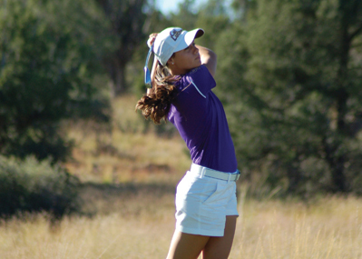 Gimbel hits another, more routine shot at the course in Prescott, Ariz.