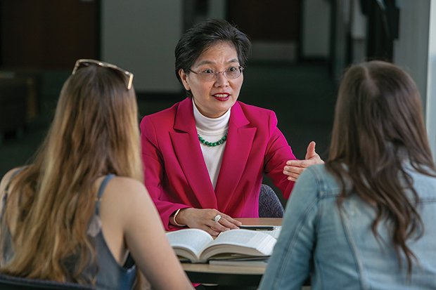 Chia-Li Chien's most recent book is Enhancing Retirement Success Rates in the United States: Leveraging Reverse Mortgages, Delaying Social Security, and Exploring Continuous Work. (Photo by Brian Stethem '84)