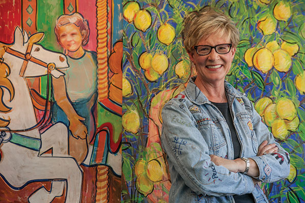 Terry Spehar-Fahey, who teaches drawing, watercolor and a course titled Art and Psychology, used her painting to emerge from major depression. (Photo by Brian Stethem)