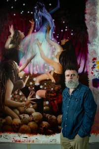 Cal Lutheran art professor Michael Pearce's sabbatical plan was to create a body of paintings to exhibit at the University of North Alabama in fall 2020, but he had to change his focus when COVID-19 closed galleries across the country.