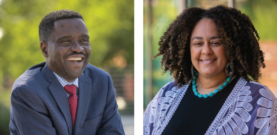 Taiwo Ande started in July as the new associate provost for Educational Effectiveness. Tabatha L. Jones Jolivet was hired this summer to serve as director of the new Ethnic and Race Studies major.