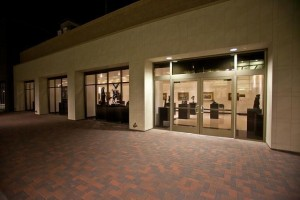 The William Rolland Gallery at night