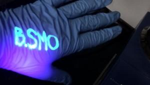 DANPY-1 Fluorescing Under UV Light