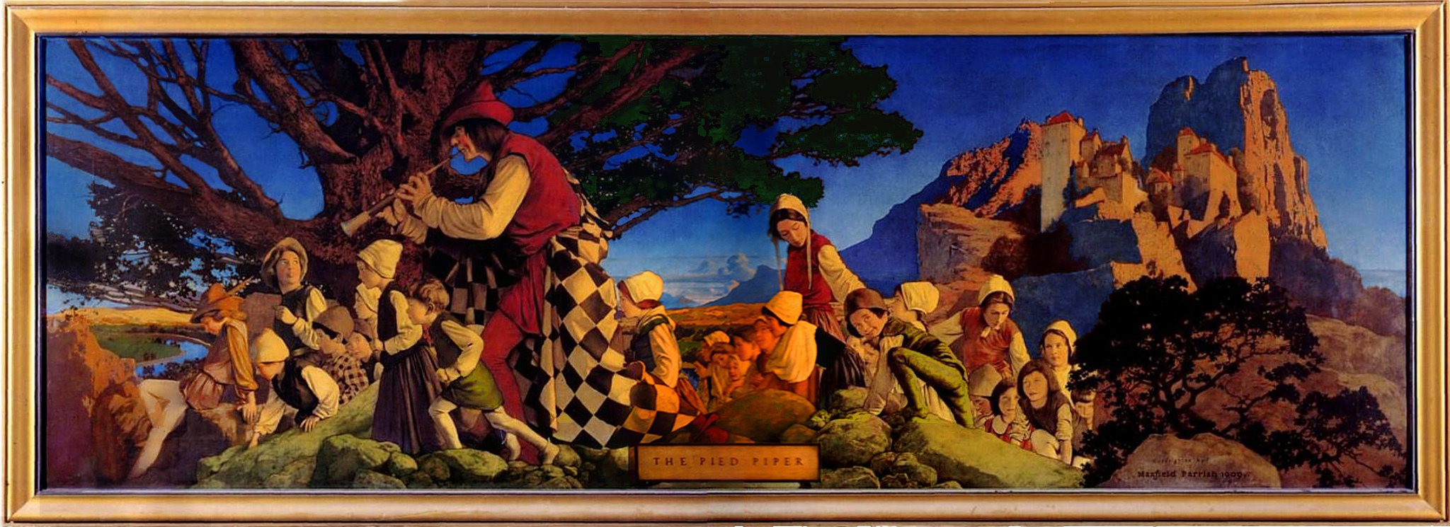 Maxfield Parrish - The Pied Piper of Hamlyn