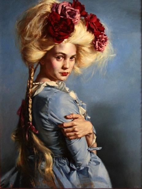 Teresa Oaxaca - Self-portrait in Blue