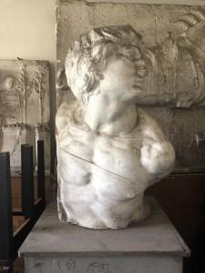 Cast copy of Michelangelo's Rebellious Slave