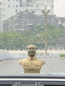 Chairman Mao on the dashboard