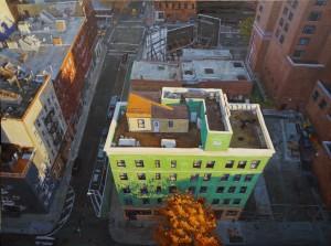 soho rooftops 36x48
