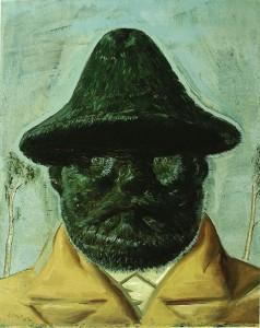 Painting of Green Man by Neo Rauch