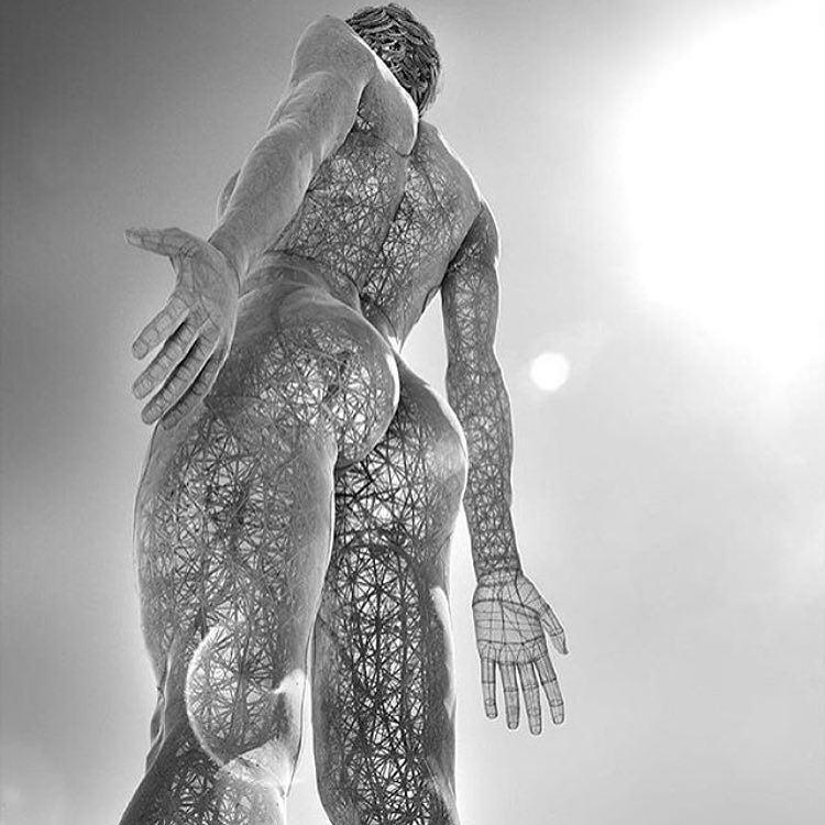 Figurative sculpture at Burning Man - Photo by Courtney Boyd Myers