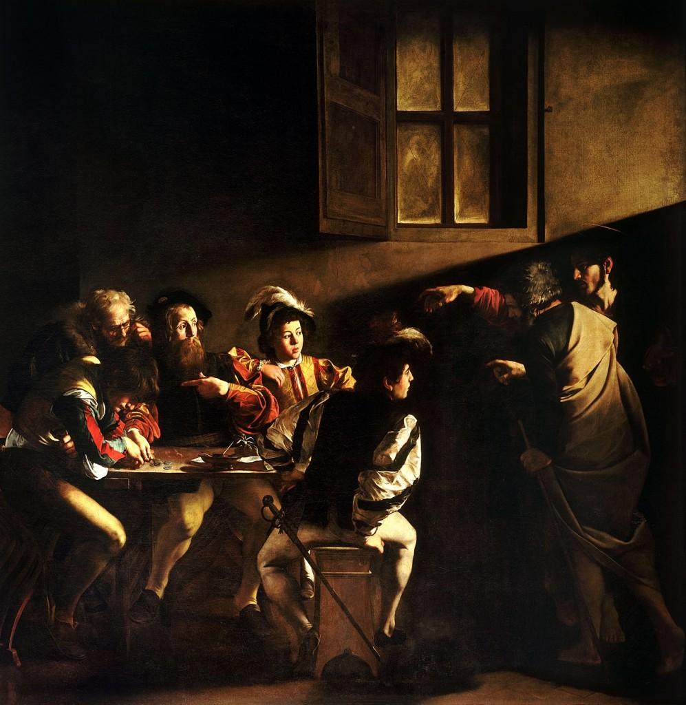 Caravaggio - The Calling of Saint Matthew