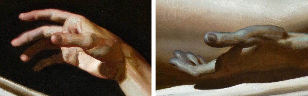Resurrection (details of the hands)