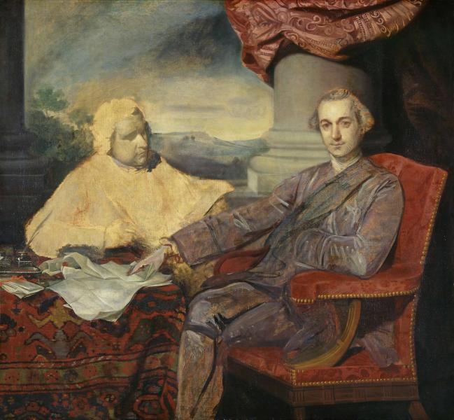 Sir Joshua Reynolds - Lord Rockingham and Edmund Burke, c. 1766