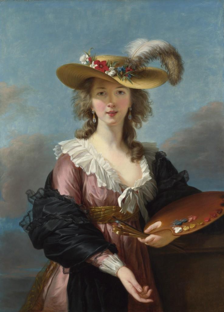 Louise Élisabeth Vigée Le Brun - Self-portrait in a Straw Hat