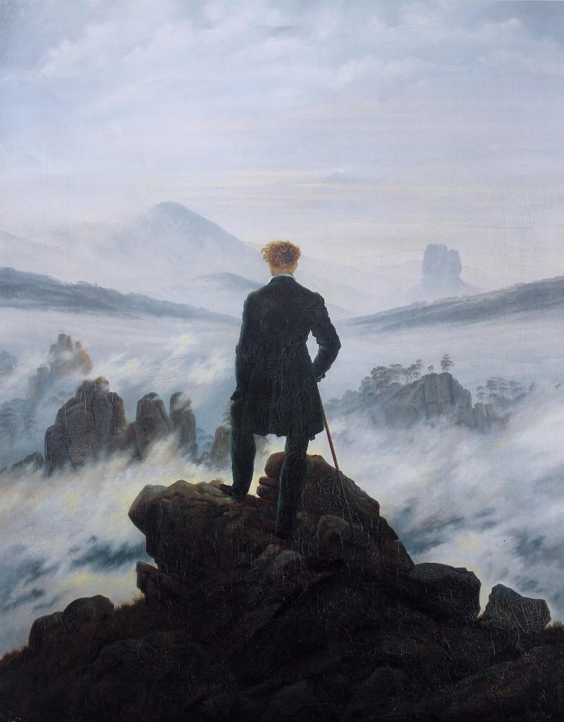 05_Caspar David Friedrich Wanderer above the Sea of Fog, 1818, oil on canvas, 98x74cm Kunsthalle Hamburg