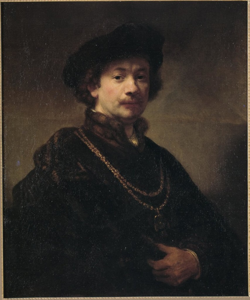 Rembrandt_-_Self-portrait with Beret, Gold Chain, and Medal